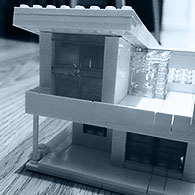 Lego model of concept house
